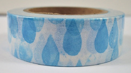 Washi Tape - Blue Water Drops
