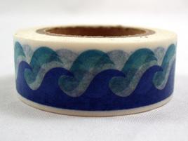 Washi Tape - Blue Waves