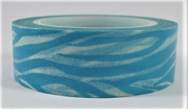 Washi Tape - Blue & White Animal Stripes