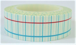 Washi Tape - Blue & White Grid Pattern CLEARANCE