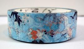 Washi Tape - Blue & White Japanese Cranes