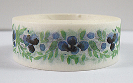 Washi Tape - Blueberries and Leaves