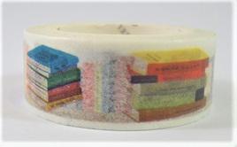 Washi Tape - Books on a Bookshelf
