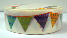 Washi Tape - Bright Bunting Flags