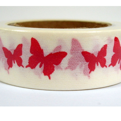 Washi Tape - Bright Pink Butterflies