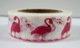 Washi Tape - Bright Pink Flamingos