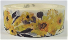 Washi Tape - Bright Yellow Flowers