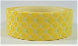 Washi Tape - Bright Yellow Lattice Pattern