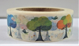 Washi Tape - Brightly-Coloured Trees