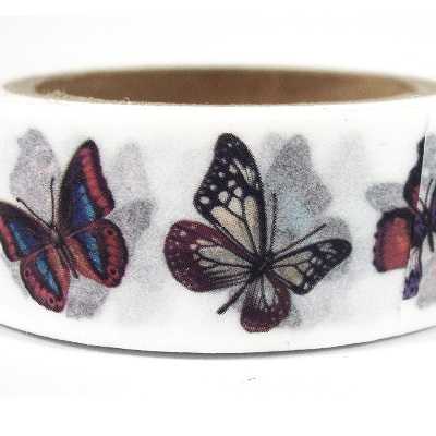 Washi Tape - Butterflies on White Background