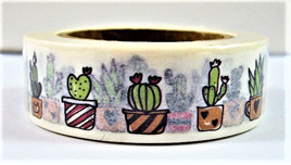 Washi Tape - Cactus in Pots