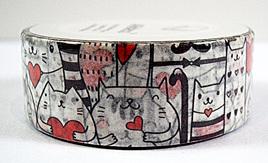 Washi Tape - Cats and Hearts