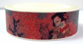 Washi Tape - Cherry Blossoms and Japanese Ladies