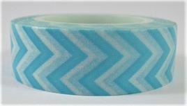 Washi Tape - Chevron Stripes: Blue & White