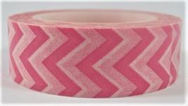 Washi Tape - Chevron Stripes: Pink & White