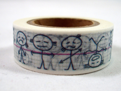 Washi Tape - Child's Sketch Drawing