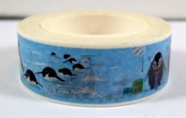 Washi Tape - Christmas Penguins