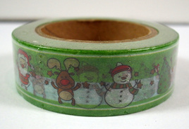 Washi Tape - Christmas Snowmen and Santas