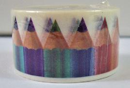 Washi Tape - Coloured Pencils
