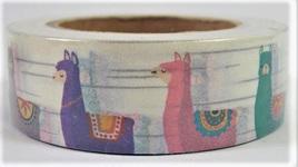 Washi Tape - Colourful Alpacas