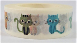 Washi Tape - Colourful Curious Cats