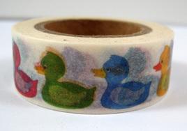 Washi Tape - Colourful Ducks
