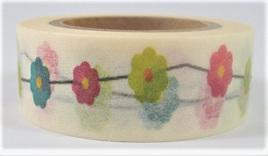 Washi Tape - Colourful Flower Chain