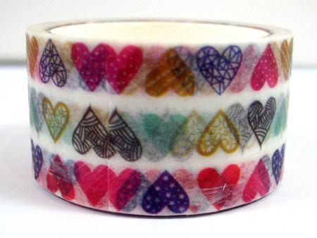 Washi Tape - Colourful Hearts