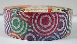 Washi Tape - Colourful Retro Circles