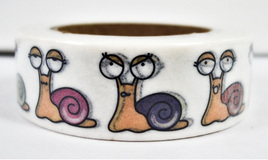 Washi Tape - Colourful Snails