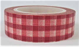 Washi Tape - Dark Red Check Pattern CLEARANCE