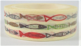 Washi Tape - Fish Sketch