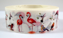 Washi Tape - Flamingos and Other Birds