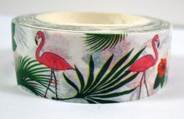 Washi Tape - Flamingos and Palm Trees