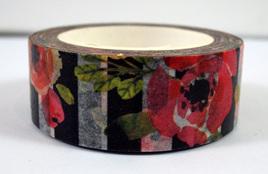 Washi Tape - Flowers and Black & White Stripes