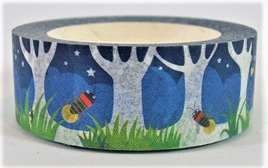 Washi Tape - Insects in a Summer Night Garden