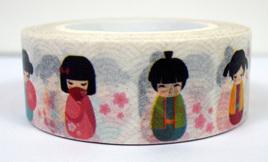 Washi Tape - Japanese Dolls