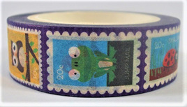 Washi Tape - Little Animals, Birds and Insects in Little Stamp Frames
