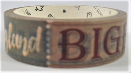 Washi Tape - London and England in Words