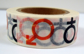 Washi Tape - Male and Female Symbols CLEARANCE