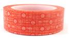 Washi Tape - Orange Dot and Grid Pattern CLEARANCE