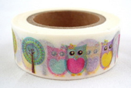 Washi Tape - Owls and Lollipop Trees