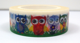 Washi Tape - Owls in the Grass