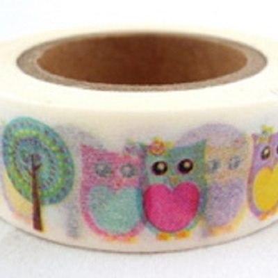 Washi Tape - Owls & Lollipop Trees