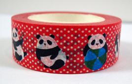 Washi Tape - Pandas and  Polka Dots