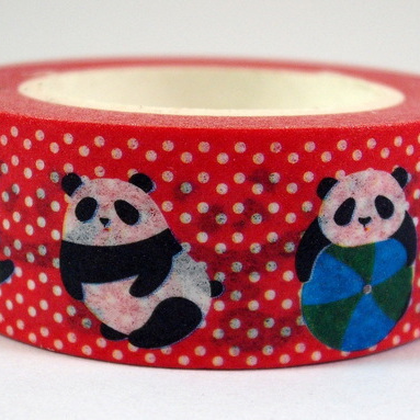 Washi Tape - Pandas & Polka Dots