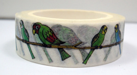 Washi Tape - Parrots and Budgies