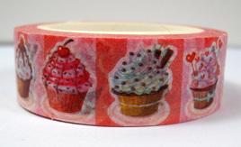 Washi Tape - Pink Cupcakes