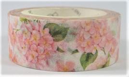 Washi Tape - Pink Hydrangea Flowers