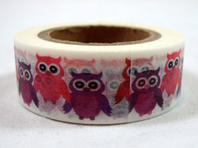 Washi Tape - Pink & Purple Owls